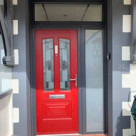 ANTHRACITE FRAME & RED DOOR